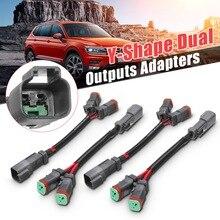 Pair Y-Shape Dual Outputs Deutsch DT Plug Adapters DTP Conne