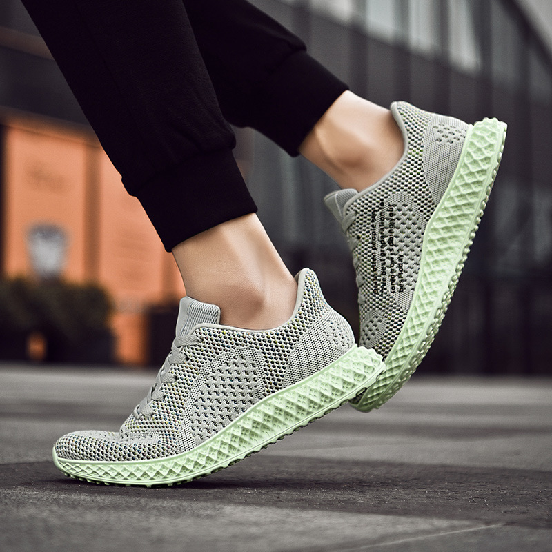 Well-Educated Light Walking Shoes For Lovers 4d Flying Weaving Technique Breathable Running Sneakers For Men And Women Q7102shd Online Shop Sneakers