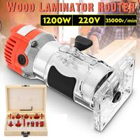 1200W 220V 6.35mm 1/4 Electric Hand Trimmer Wood Laminate Router Joiner Tool