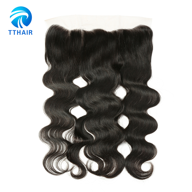 TTHAIR Brazilian Body Wave Ear To Ear 13*4 Lace Frontal 8-20 Inches 100% Remy Human Hair Pre Plucked Lace Frontal Free Shipping