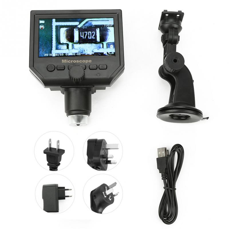 Portable Digital Microscope 4.3 inch G600 1-600X Magnifier 1080P LCD Wifi Microscope 100-250V Industrial Electron Microscope