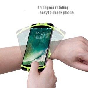 Image 4 - VNSTRIP evrensel koşu kol bandı elastik silikon bilek bandı telefon tutucu 4.5 6.5 inç 360 derece dönen Samsung