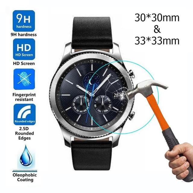 2pcs Transparent Tempered Glass Screen Protector Films for Samsung Galaxy Watch 42mm/46mm Screen Protective High Quality