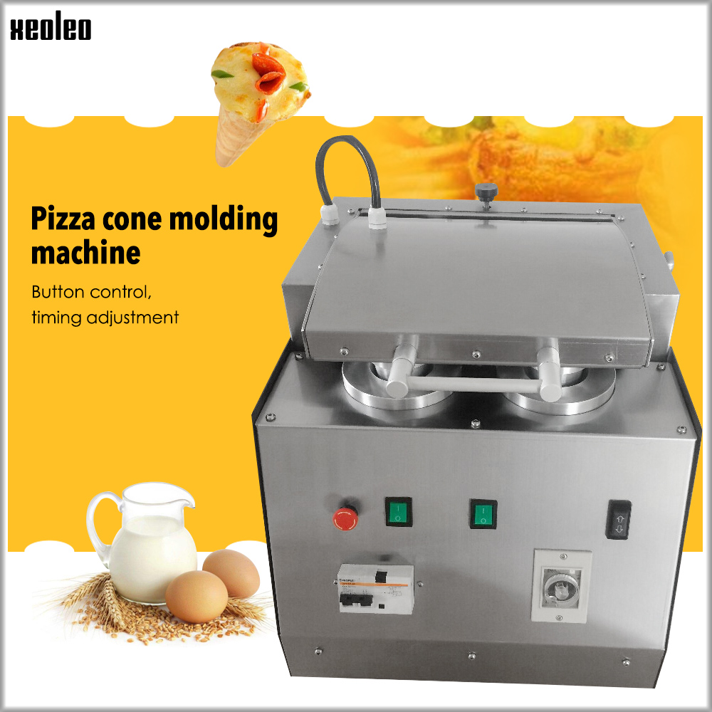 XEOLEO Four Holes Pizza Cone Machine 4100W Pizza Moulding Machine Stainless Steel Automatic Pizza Cone Machine220V/110V