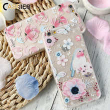 CASEIER Cute Flower Phone Case For iPhone 7 8 Plus Soft Silicone TPU Cover For iPhone XS MAX XR 6 6S 5S 5 Funda Capinha Coques цена и фото