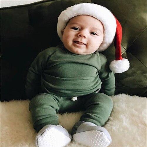Хлопковый пижамный комплект с длинными рукавами для новорожденных мальчиков и девочек от 0 до 24 месяцев, одежда для сна, одежда для сна, топы и штаны, комплекты одежды для малышей из 2 предметов