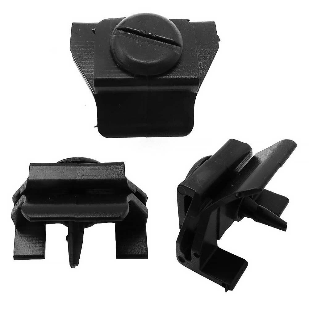 2PCS Car Front Bumper Clip Retaining Fastener Retainer For Toyota 53879-28010 Black Interchange 53879-0R010 Bumper Retaining