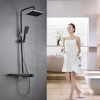 Bathroom Shower Set Mixer Black Bathroom Shower Faucet Bathtub Faucet Sets Shower Taps Shower Head Wall Mixer Torneira Tap