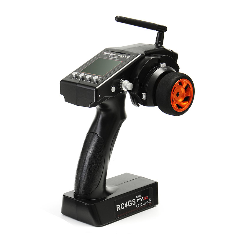 RadioLink RC4GS 2.4G 4CH Voiture Contrôleur Émetteur + R6FG Gyro À L'intérieur Récepteur pour RC Voiture Bateau Cadre Pièce De Rechange