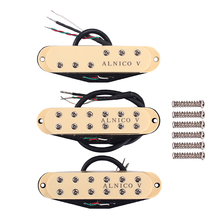 Cream Single Coil Humbucker Pickup M/N/B with Mounting Screws for Stratocaster ST Electric Guitar cream wilkinson lic st strat vintage voice single coil pickups fits for stratocaster