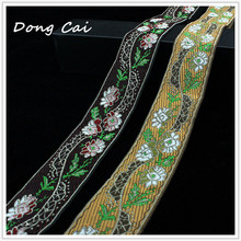 5 yards/lot 4CM width embroidered ribbon lace DIY handmade garment clothing decorating sewing accessory