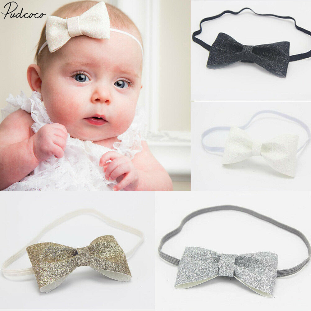 Cute Baby Hair Band Baby Shower Elastic Headwear Bowknot Head Band Accessory