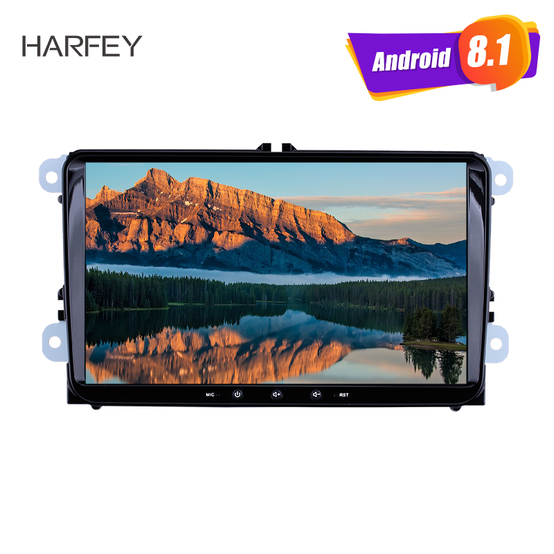 Harfey GPS Navigation font b Car b font Multimedia Player Android 8 1 4 core Auto