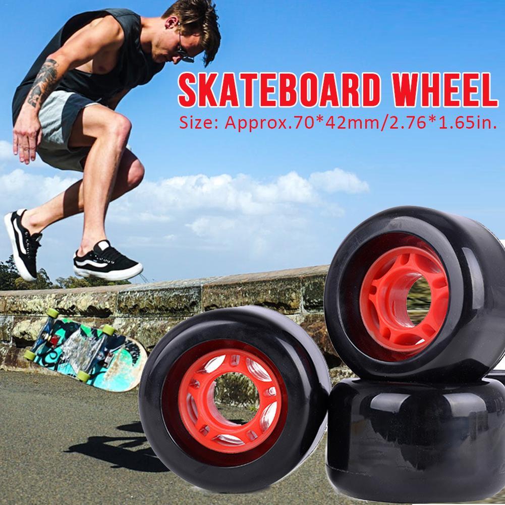 4Pcs New Super Durable Elastic Skateboard Wheels Durable Wear-resistant Stable Long Board Wheel For Drifting Penny Board