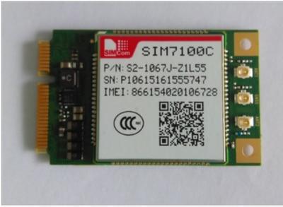 Module de Communication SIM7100C PCIE 4G 5 modes LTE TDD FDDModule de Communication SIM7100C PCIE 4G 5 modes LTE TDD FDD