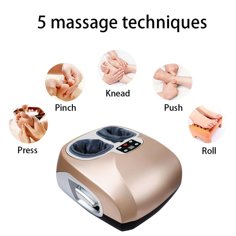 Beauty Automatic Electric Foot Massager Home Roller Foot Health Heating Massager цена