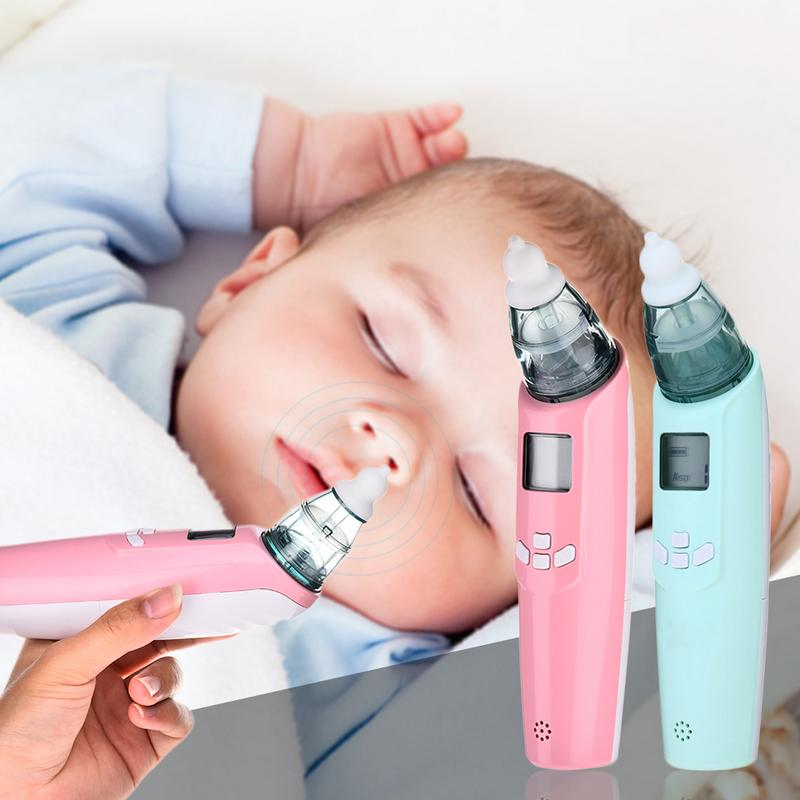 Baby Nasal Aspirator Electric Safe Hygienic Nose Cleaner 3 Suction Adjustable LCD Screen Electric Nasal Aspirator For Baby