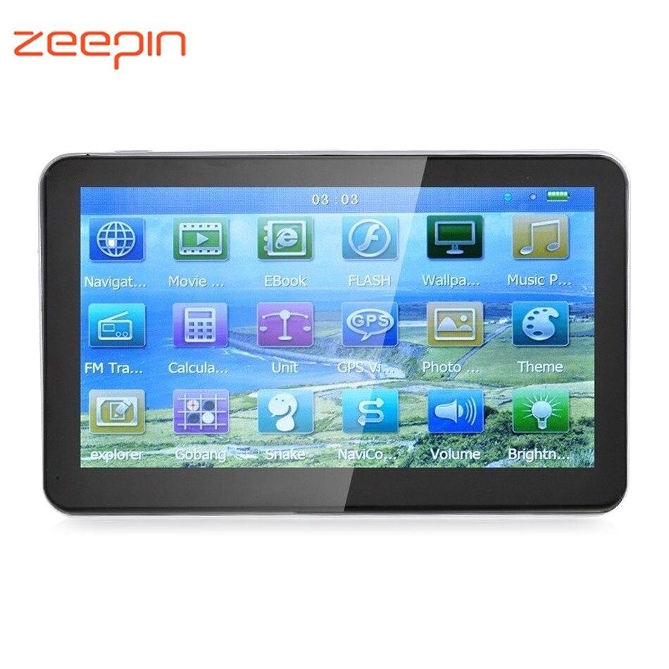 Zeepin 704 GPS Navigation 7 zoll Auto Navigator Win CE 6,0 800x480 8G ROM Integrierte Europa Karte unterstützung Russisch Spanisch Französisch