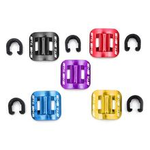 5pcs Cycling Bike Brake Cable Guide Clips Bicycles Gear Shift Line Wire Hose Guides Aluminium Alloy C Buckles Clamps