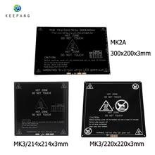 12V Upgraded MK3 heatbed 214x214/220x220/300x200x3mm Aluminum Heated Bed hotbed for 3d printer parts impressora 3d pe as цены онлайн