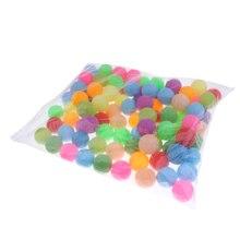 100 шт разноцветные шарики для кошек-40 мм пластиковый, клубный пивной пинг-понг мячи для настольного тенниса