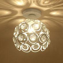 WSFS Calda E27 bianco di cristallo Creativo minimalista soffitto luce Semplice lampada da soffitto camera da letto vicolo Semplice europeo lampada di ferro