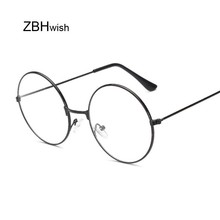 0ec0fb713f Fashion Vintage Retro Metal Frame Clear Lens Glasses Nerd Geek Eyewear  Eyeglasses Black Oversized Round Circle