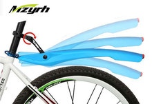 MZYRH 26 Inch Bike Fender 1 Pair Set with LED Taillight Flexible Mudguard Removeable High Quality