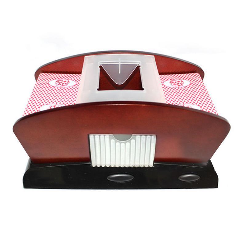 Machine de mélange de cartes carte à jouer automatique en plastique carte Shuffler 1-2 pont Poker trieur mélangeur Machine pour le divertissement de fête