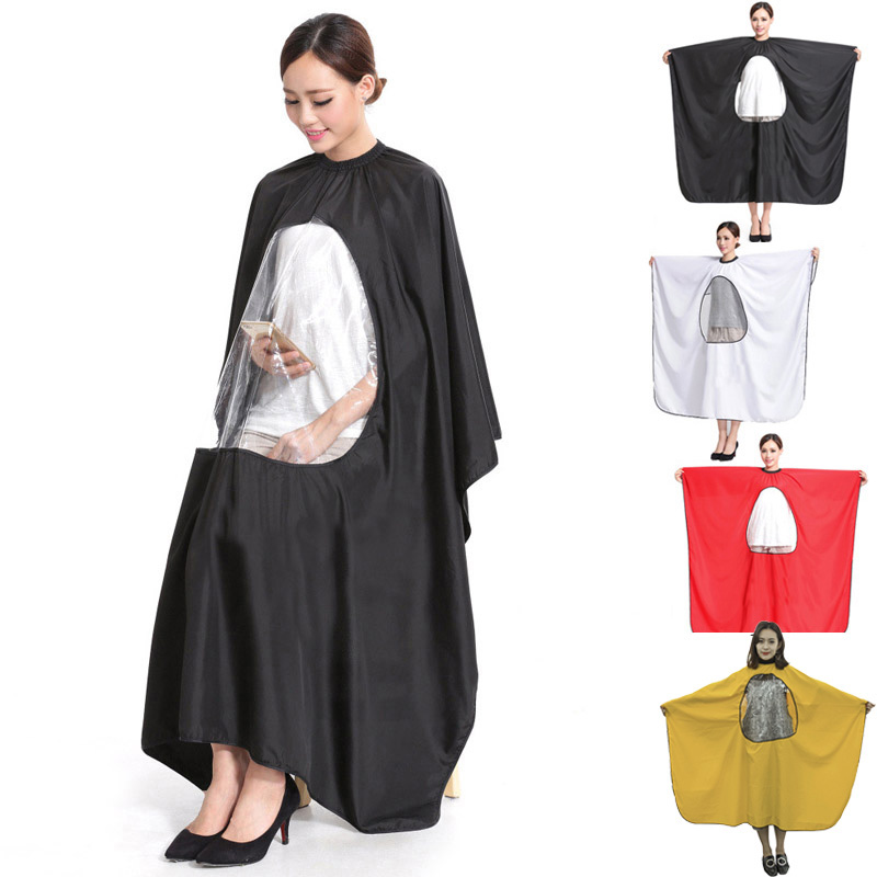 4 Colors Hairdressing Cloth Cape Gown Transparent New Waterproof Display Window Haircut Barbers Covers Wrap Pro Styling Tools