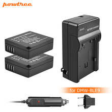 Powtree DMW-BLG10 DMW BLG10 DMW-BLE9 Battery+Charger For Panasonic DMC GF6 GX7 GF3 GF5 DMW-BLG10GK LX100 GX80 GX85 L10 tectra 4pcs dmw blg10 dmw ble9 bp dc15 bateria usb dual charger with ac adaptor for panasonic lumix gf5 gf6 gx7 lx100 gx80