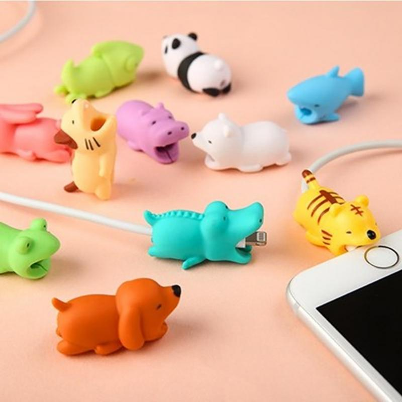 1pc Animal Cable Bite Protector For iPhone Cable Winder Phone Holder Accessory Chompers