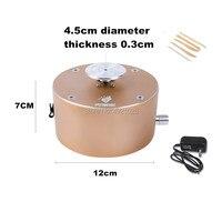 شحن مجاني 12 V DIY السيراميك الفن إنتاج آلة مصغرة الطين صنع الفخار آلة 1500 RPM