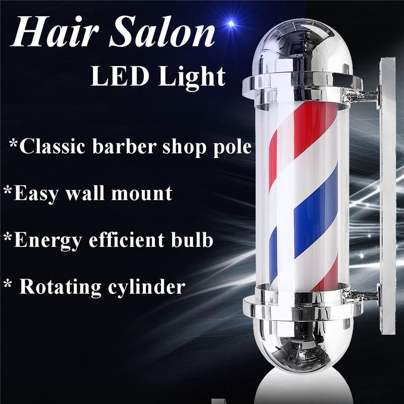 220 V 8 W Led Kapper Winkel Pole Licht Rood Wit Blauw Streep Ontwerp Roating Salon Muur Opknoping Licht Lamp Schoonheidssalon Lamp