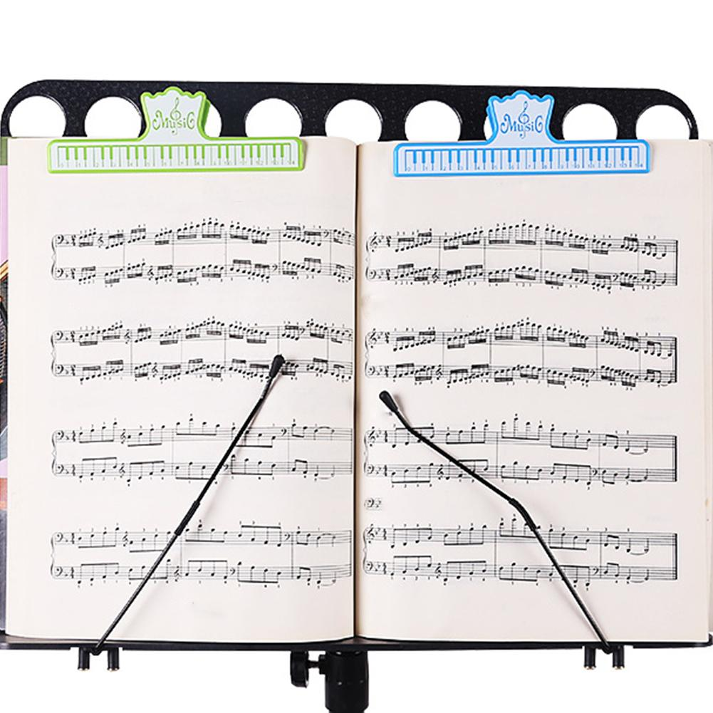 1pc 15cm Plastic Music Score Fixed Clips Book Paper Holder For Guitar Violin Piano Player Multifunction Clips Office Supplies