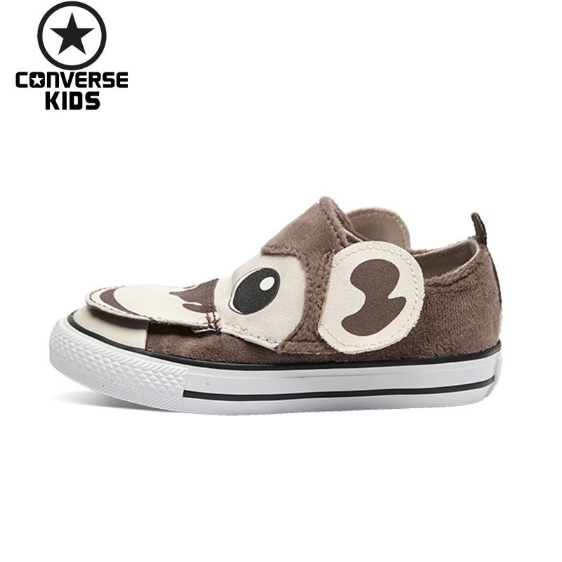 CONVERSE Children's Shoes Lovely Cartoon Low Help Magic Subsidies Children Breathable Canvas Shoes #756114C converse child shoes classic hatch laugh low help magic subsidies canvas children shoes 362179c