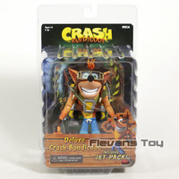 NECA Crash Bandicoot Deluxe Crash with Jetpack 7 Scale PVC Action Figure Collectible Model Toy
