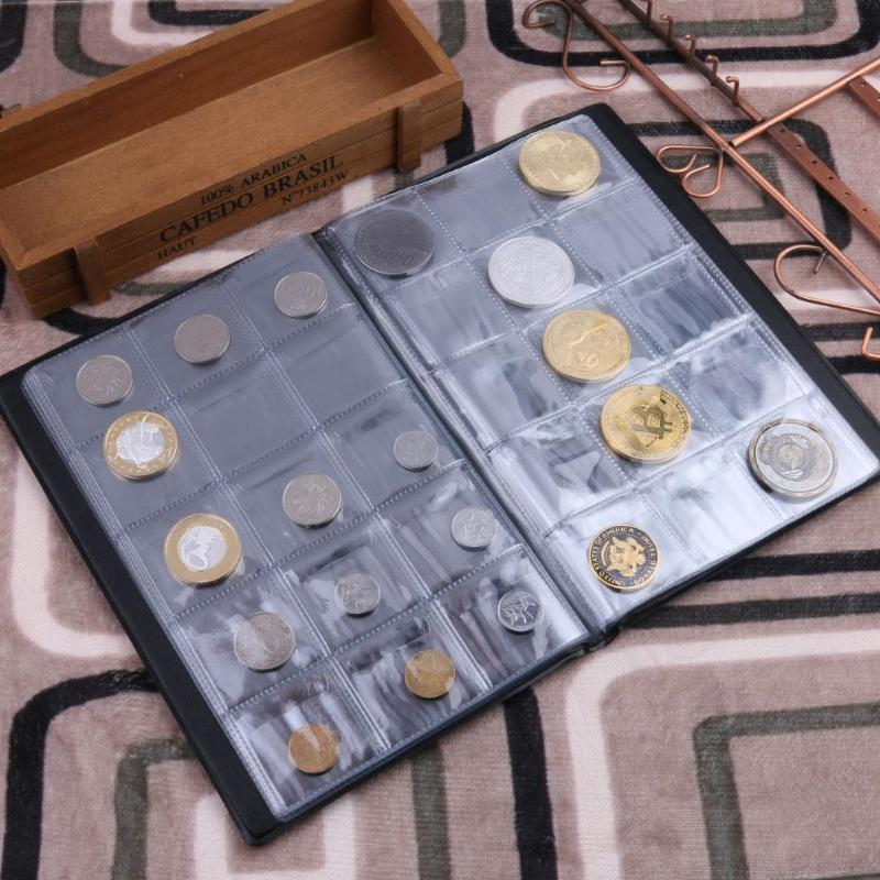 NEW 200 pockets Coin money Album Holders World Coins Collection Book 10Pages