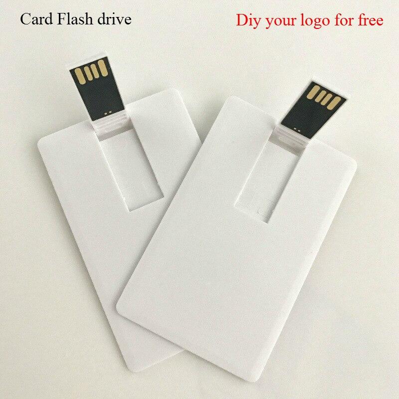 (Over 10 Pcs Free Logo)Hot Sale! Business Credit Card Usb Flash Drive Pen Drive Usb Memory Stick Disk Custom Logo USB2.0 1GB 2GB