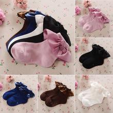 Meias para meninas pudcoco, meias de algodão para bebês recém-nascidos, de princesa, infantis