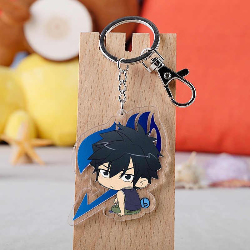 Anime fée queue porte-clé mode acrylique Natsu Lucy Heartfilia Erza écarlate voiture porte-clés chaîne pendentif porte-clés bijoux