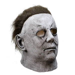 Image 2 - Horror Movie Halloween Horror Michael Myers Mask Carnival Cosplay Adult Latex Full Face Helmet Halloween Party Scary Props