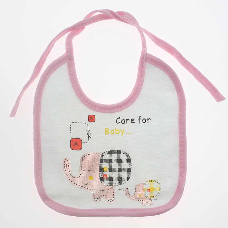 MAYA STEPAN 1 Piece Cotton Cartoon Elephant Girls Boys Baby Bibs Gift Towel Feeding Stuff Burp Cloth Letter Waterproof Infant