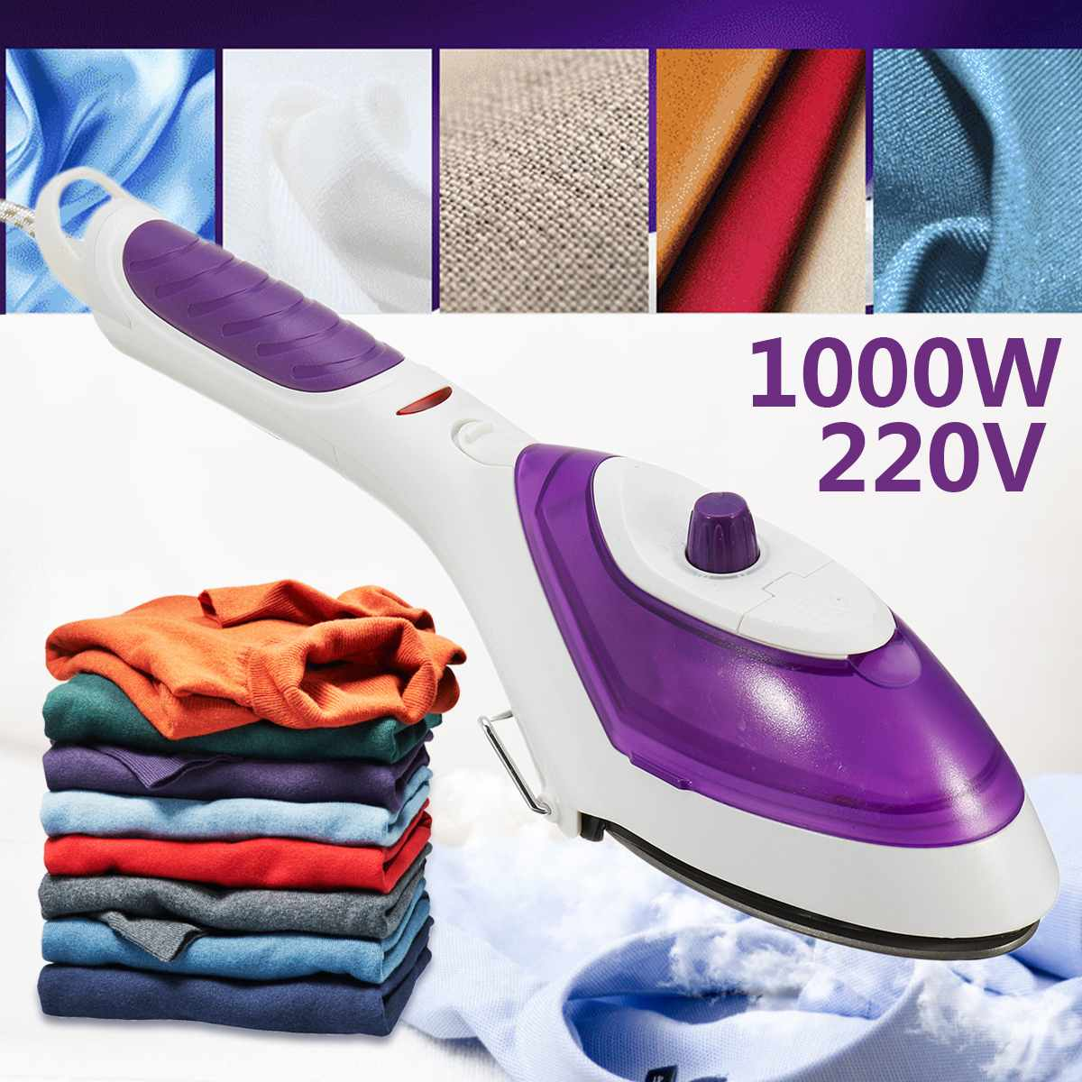 Garment Steamer 1000W 220V Handheld Clothes Fast-Heat Portable Steam Iron Home Travel EU Plug Capacity 70ml Strong Hotels Simply