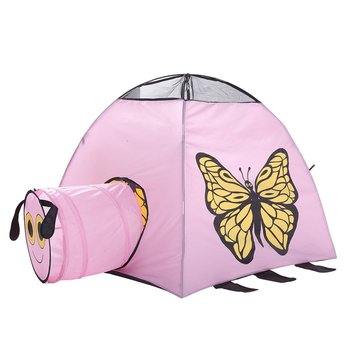 2 In1 Portable Children Play Tent Kids Play House Tunnel Tent Game Toy Tents Playhouse for Baby Toddler Indoor Outdoor Fun