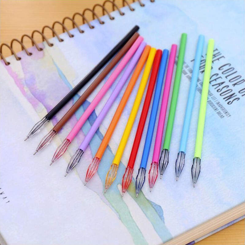 12PCS Fresh Colour Series Gel Pen 0.38mm Black Ink Color High Quality School Student Stationery And Office Supplies Pen