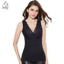 Winter Warm Women Lace Sleeveless Thermal Slimming Underwear Camisoles And Tanks Tops Shaper Body Shape Wear Shapewear Slim Vest
