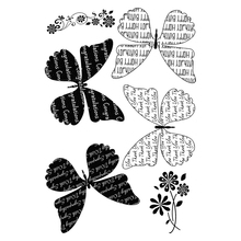 butterfly Transparent Clear Silicone Stamp/Seal for DIY scrapbooking/photo album Decorative clear stamp