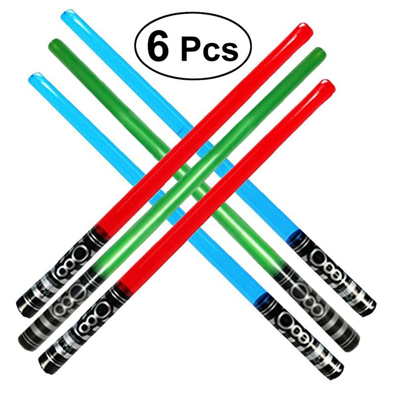 6PCS Inflatable Swords Jumbo Glowing  Toys Instruments For Children Party Kids Gift Child Concert Swords Toys Random Color