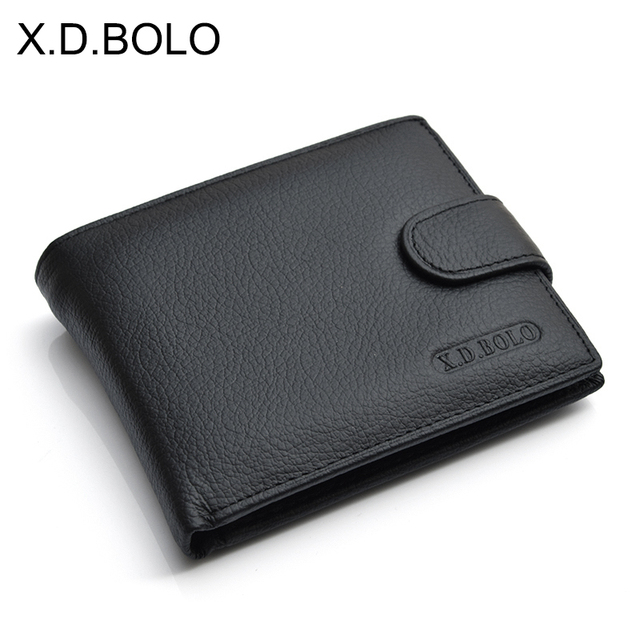X.D.BOLO Wallet Men Leather Genuine Cow Leather Man Wallets